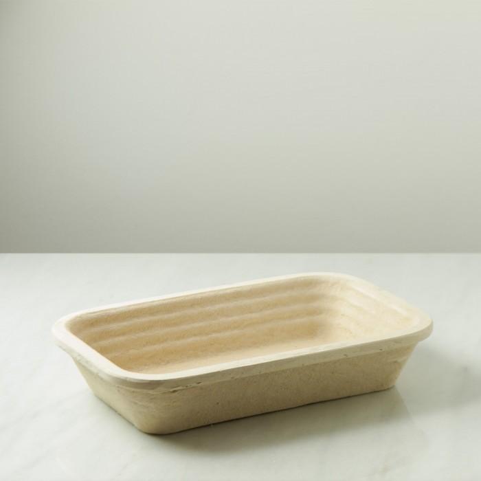 Banneton rectangular de pulpa de madera para 2.5 kg masa