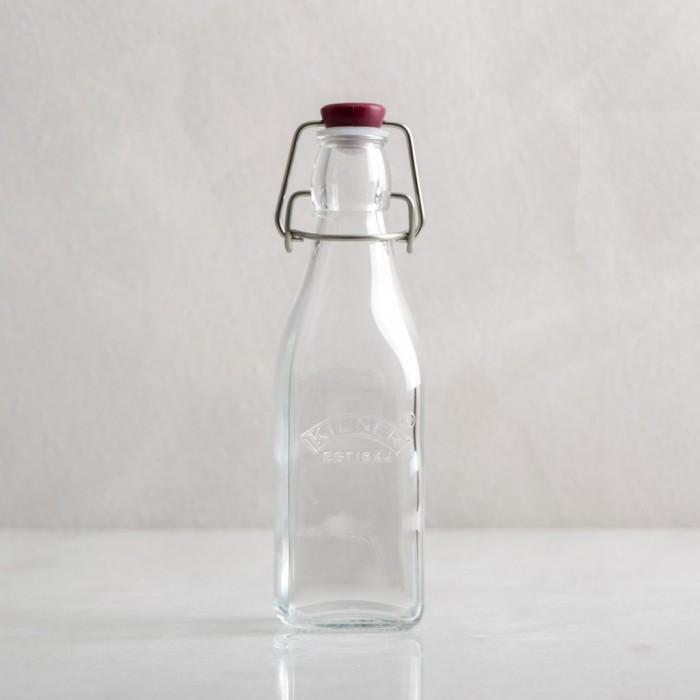 Botella de cristal cuadrada con cierre hermético de Kilner