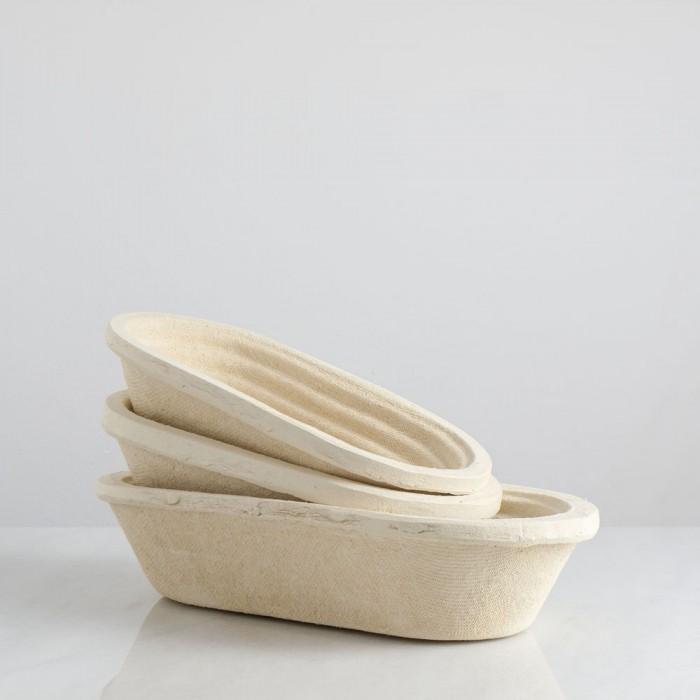 Banneton ovalado de pulpa de madera