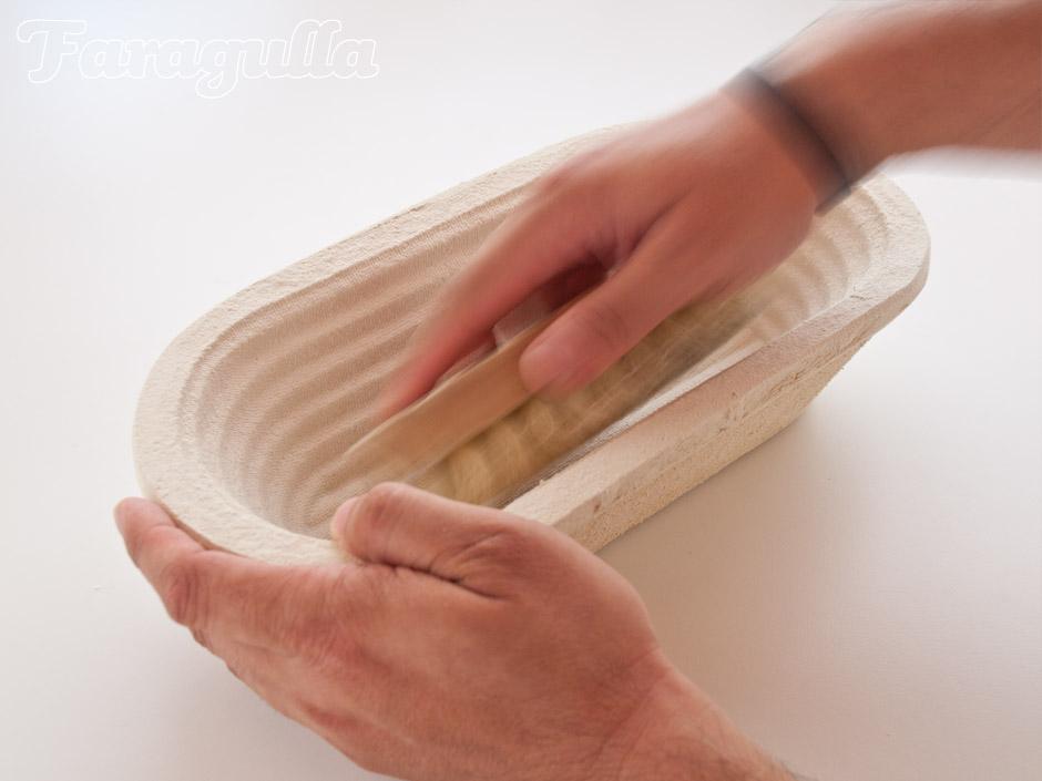 Como preparar el banneton para su uso · Faragulla