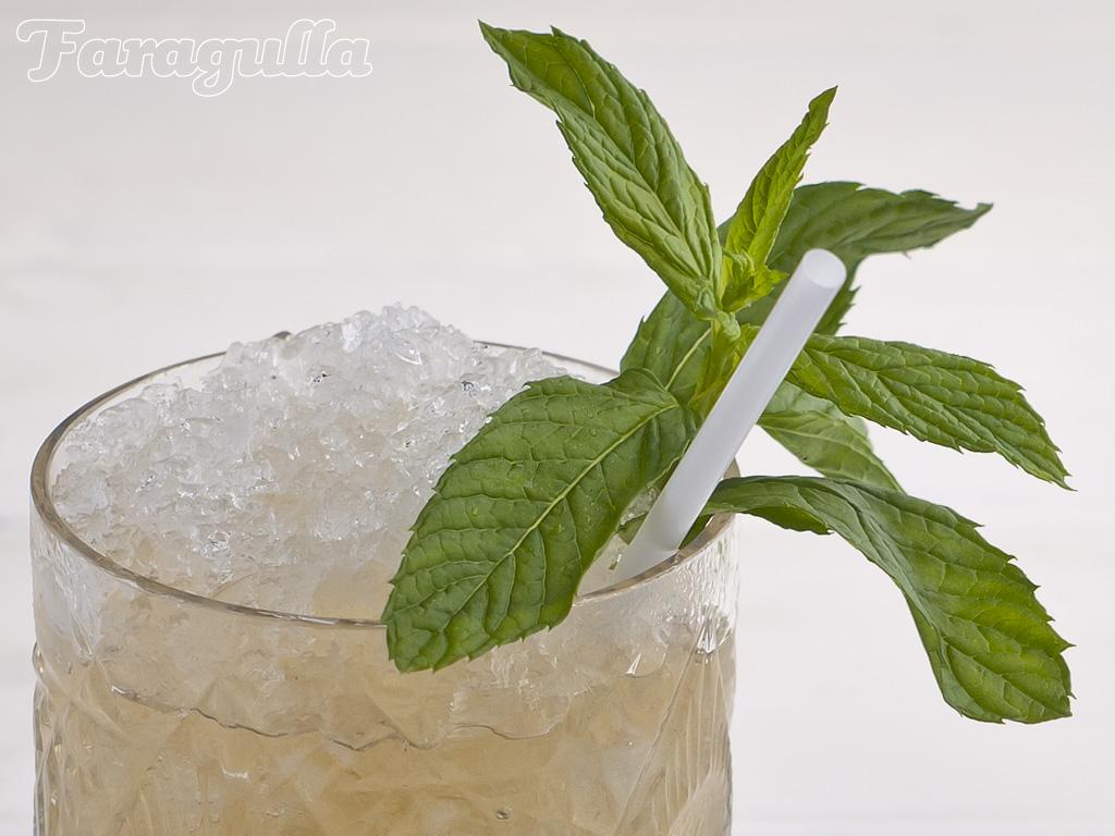 Mint julep cocktail de bourbon y menta