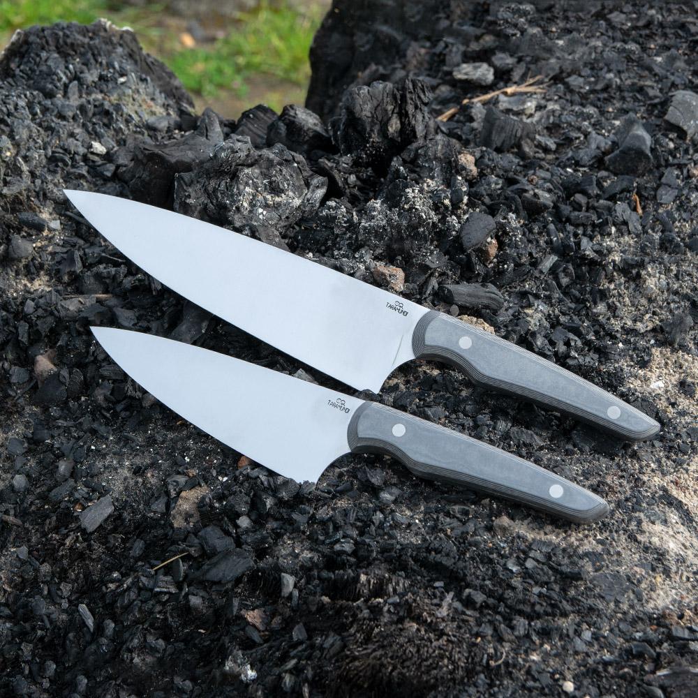 Cuchillos de cocina Taramundi Pequeño y Gran Chef Ergo diseño Faragulla