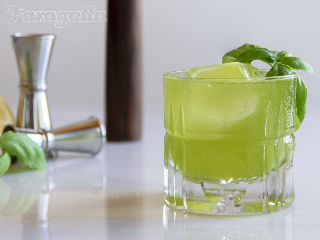 Receta del Gin Basil Smash de Faragulla