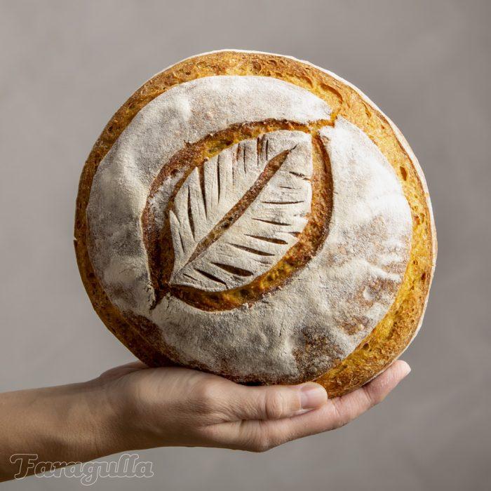 Pan de calabaza con masa madre